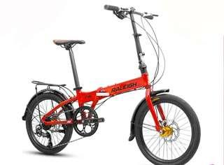 "Raleigh F8 20"" foldable bicycle"