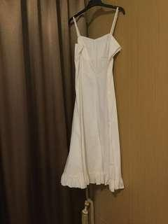 🚚 Nice white stretch cotton dress