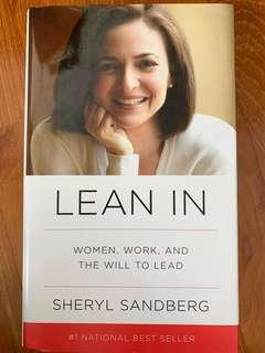 🚚 Lean in- Sheryl Sandburg (hard cover, in mint condition)