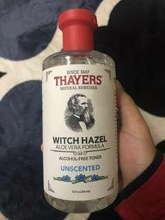99% left Thayers Witch Hazel Toner Unscented free postage!!