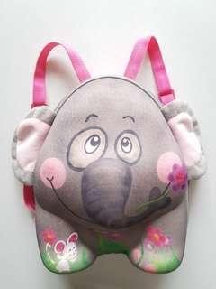 可愛小象背包