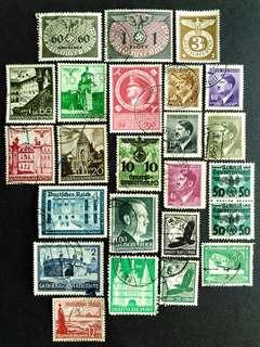 🚚 German WWII used stamps
