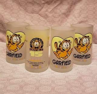 全新 加菲貓 15週年情人節 玻璃杯 garfield $80一隻