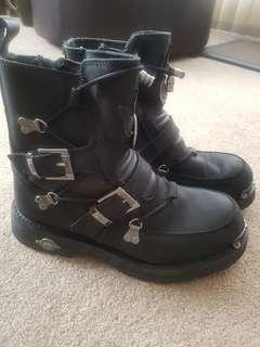 Mens black Harley Davidson boots
