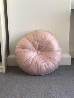 Circular Pink Bed Pillow