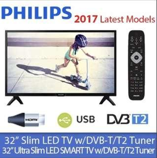32inch Philips Digital HD LED TV(Free warranty)