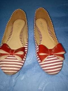 Flatshoes salur merah