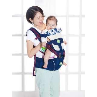 全新BB嬰兒0~3歲 Hipseat 多功能揹带背帶腰凳 包郵 (睿智藍)