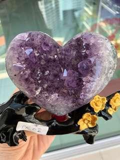 🚚 Uruguay Natural Amethyst Crystal Heart sharp cluster PK02