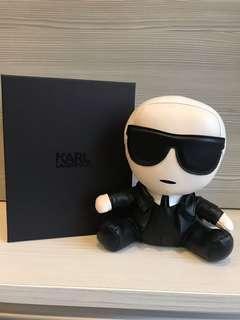 Chanel karl lagerfeld限量真皮娃娃收藏公仔玩偶門擋