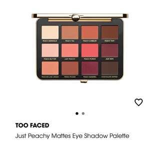 🚚 Too faced just peachy