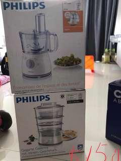 Philips food processor and Philips Steamer