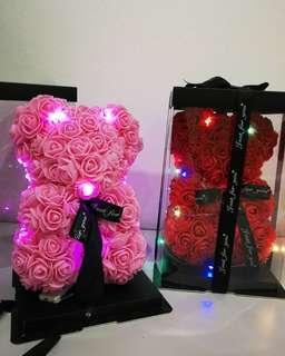 LED Rose Bear