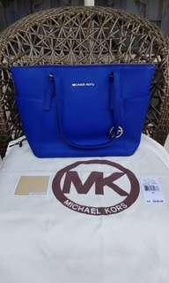 Michael Kors Jet Set Zip Tote Saffiano Leather - Sapphire