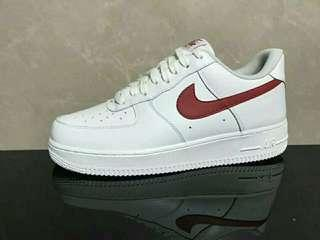 🚚 Nike air force1'07 low 白紅force 男女鞋