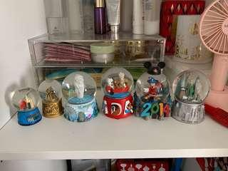 Assorted Snow globes