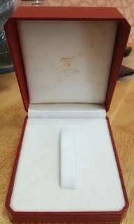 卡地亞 原裝錶盒 四方 紅色 花邊 #MTRtko