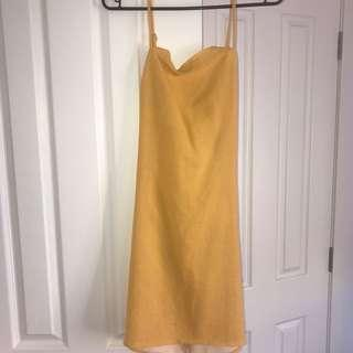 yellow dress sz 8