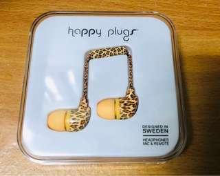 Happy Plugs In-Ear Earphones Deluxe Edition-Leopard