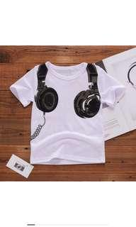 🚚 BN Cool Kids Headphone T-shirt