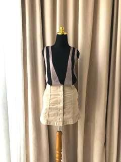 Forever21 Zara hnm top & suede skirt
