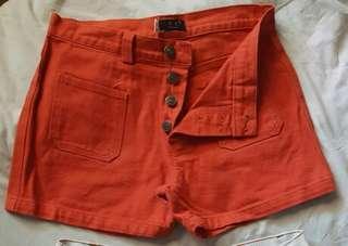 HW rust shorts