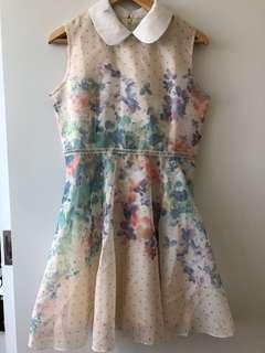 Collared Floral Summer Dress