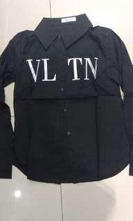 Kemeja Hitam VLTN Premium quality