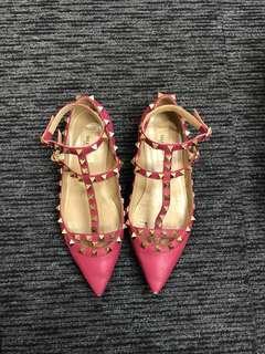 Valentino rockstud flat shoes 平底鞋