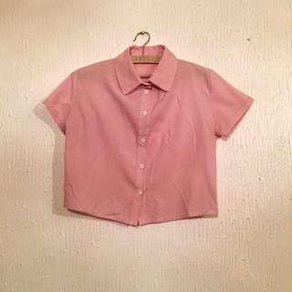 #20OFF UNBRANDED Cropped Polo Shirt