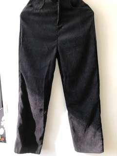 Black Korean Style Pants