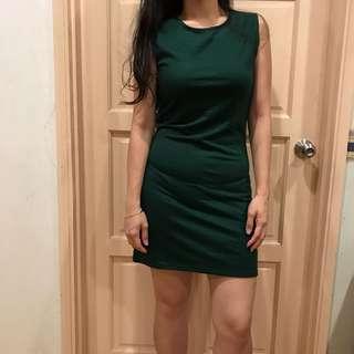 BN Dark Green Bodycon Dress