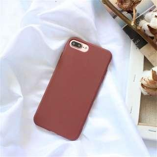 [brand new] wine red iphone xr casing
