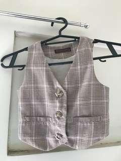 Gingersnaps checkered kid vest