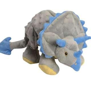 🚚 Authentic BN GoDog Dinos Grey Triceratops Small