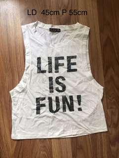Life is fun tanktop
