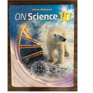 ON Science 10 Student Edition Hardcover