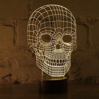 Bulbing 2D Led Lamp (with 2 acrylic faces)