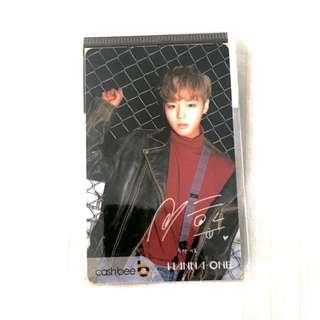 wanna one fan con park jihoon traffic card photocard