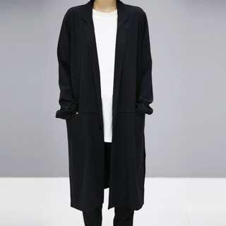 黑色長身顯瘦薄西裝褸外套 Long Black Blazer