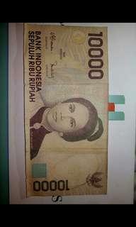 Uang Kuno 10.000 bisa lihat tahunnya