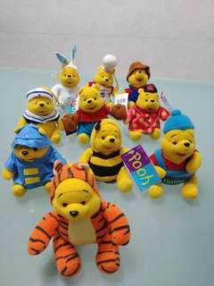 Winnie The Pooh stuffed toys collectibles