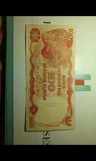 Uang 100 rupiah Indonesia
