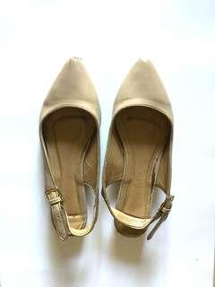 Reprice Nude Flat Shoes