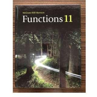 Functions 11 - MCGraw-HillRyerson (Hardcover)
