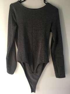 Mirrou Grey Bodysuit ⚡️ Size S