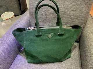 Prada suede leather tote Super deal