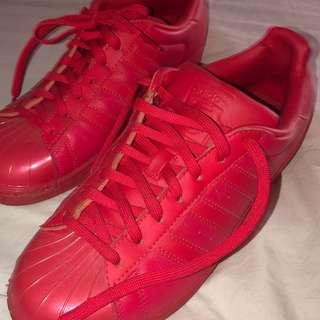 Adidas Superstars/ Size 8