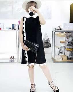 韓製 黑白小洋裝