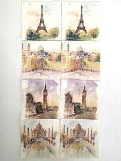 🚚 Cityscape sticker set